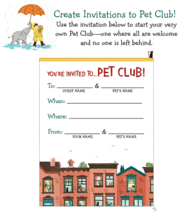 Pet Club Invitation